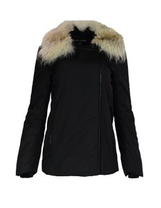 Ralph Lauren Fur Off Center Jacket Fur Collar Coat