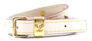 Louis Vuitton RARE LV gold logo hardware with studs bracelet