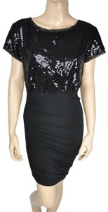 BCBGeneration Sequin Bodycon Stretch Short Sleeve Bcbg Dress