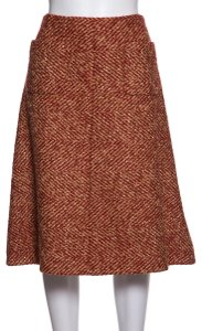 Chanel Skirt Red & Gold