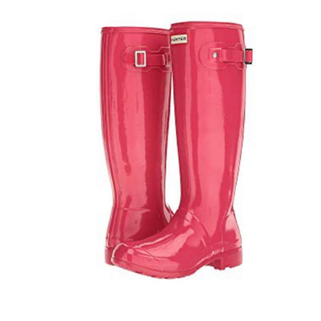 Hunter Mosse Pink Boots/Booties Size US 5 Regular (M, B) Hunter Mosse Pink Boots/Booties Size US 5 Regular (M, B) Image 1