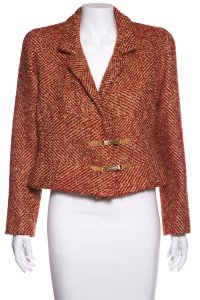 Chanel Red & Gold Blazer