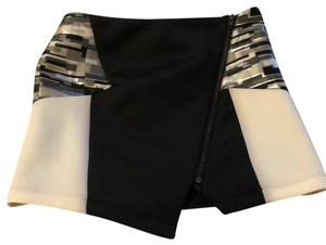 Mustard Seed Mini Skirt Black/White/silver