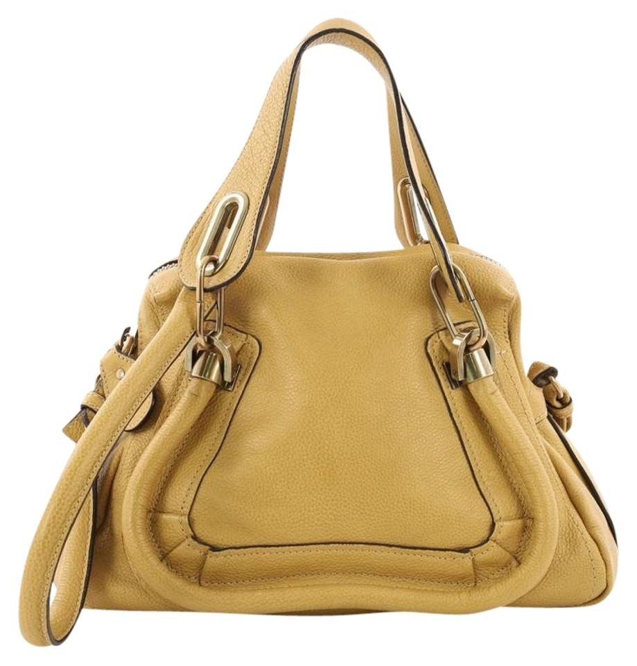 0435f139458 Chloé Paraty Top Handle Small Yellow Leather Shoulder Bag - Tradesy