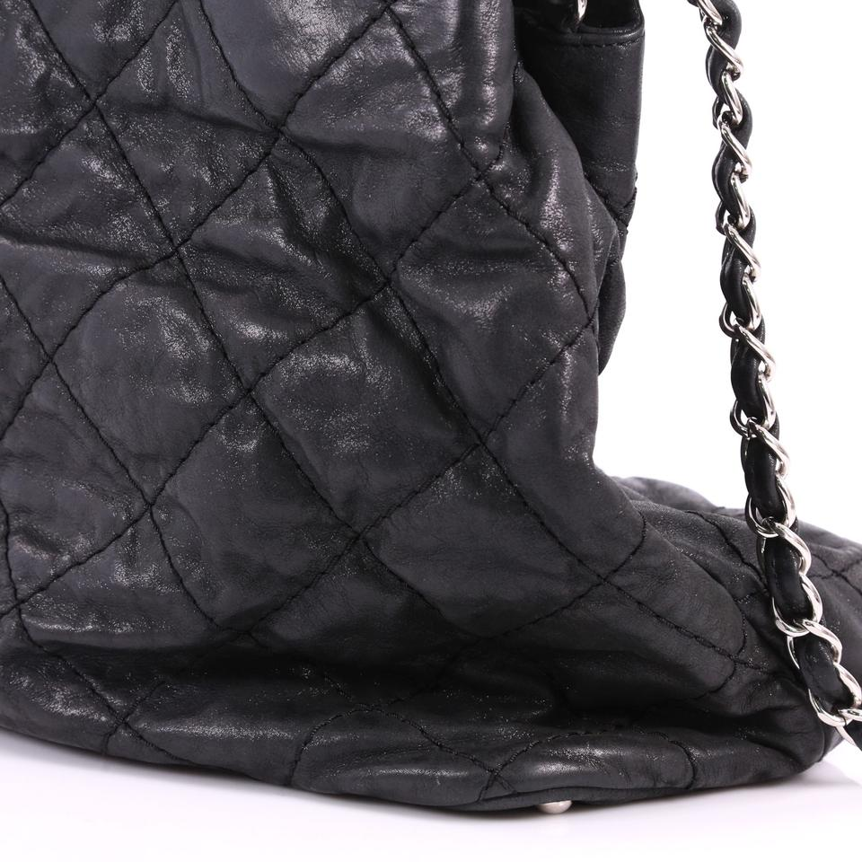 f6a7d83d542e Chanel Cc Sea Hit Quilted Iridescent Large Black Calfskin Leather ...