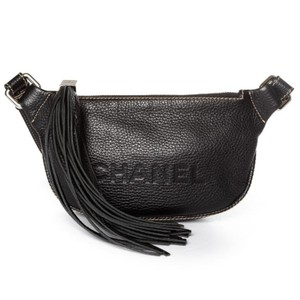 c292dbf6 Chanel Waist Fanny Pack Black Leather Cross Body Bag