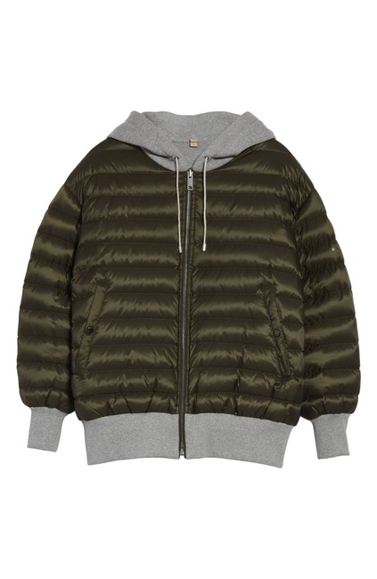 Item - Olive Green Classic Langleigh Quilted Reversible Down Hooded Bomber Zip-up Coat Size 2 (XS)