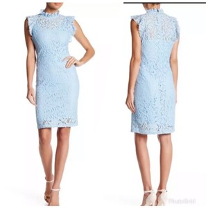 Alexia Admor Lace Sheath Babyblue Dress