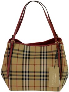 Burberry Tote in Honey/Parade Red