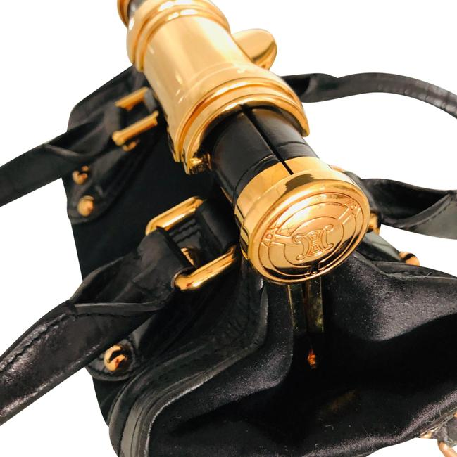 Item - Black with Gold Hardware Leather Baguette