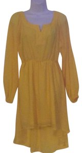 GB short dress yellow on Tradesy