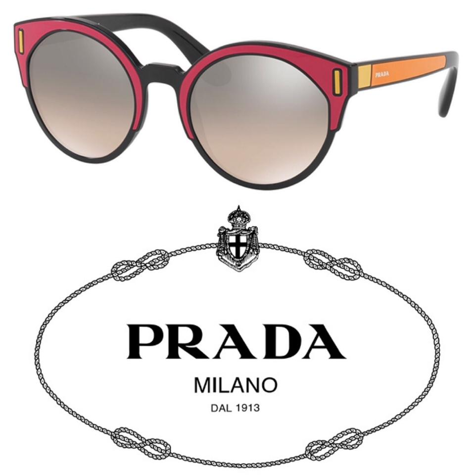 b02b00171c1 Prada Pink Orange Black Color-block Cat Eye Sunglasses - Tradesy
