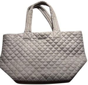MZ Wallace Quilted Oxford Blue Tote in Gray