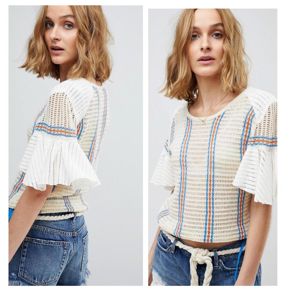 Babes Free babes only striped tee blouse