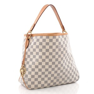 Louis Vuitton Lv And White White Tote Neverfull Shoulder Bag
