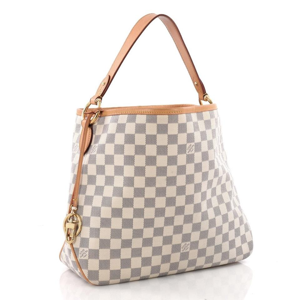 1679d76ec77 Louis Vuitton Delightful Pm Damier Azur Blue Coated Canvas Hobo Bag