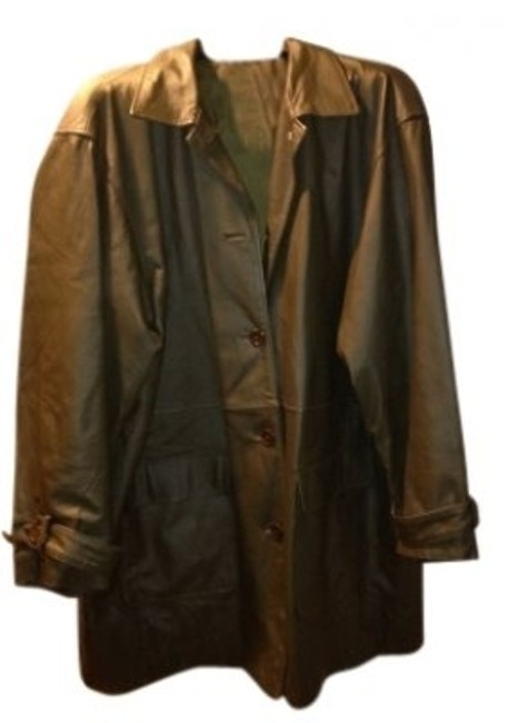 Preload https://item1.tradesy.com/images/newport-news-olive-green-medium-length-leather-jacket-size-22-plus-2x-24205-0-0.jpg?width=400&height=650