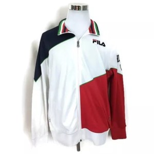 Fila Blue/Red/White Men's Vintage Italy Team Track Jacket Full Zip Tuxedo