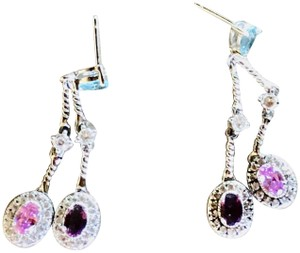 Charles Winston Charles Winston Collection Sterling Silver CZ Earrings Drops