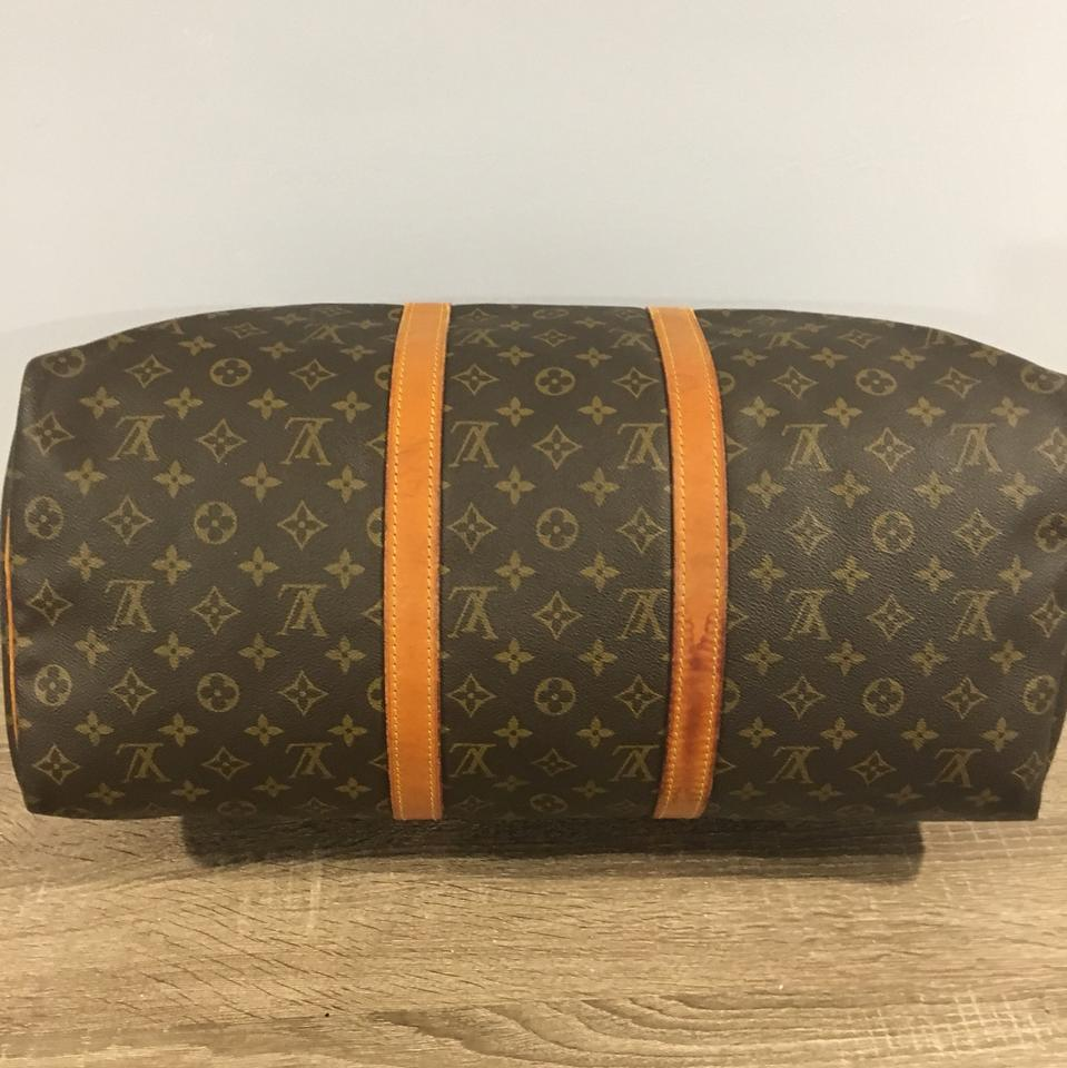 c2453118276 Louis Vuitton Keepall 50 Monogram with Accessories Brown Canvas  Weekend/Travel Bag 77% off retail