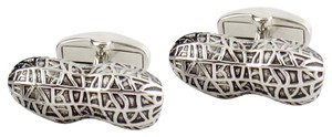 Paul Smith Paul Smith PEANUT Cufflinks in Silvertone Brass