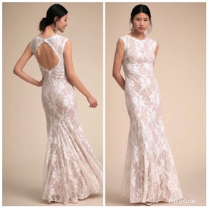 BHLDN White Lace Ryland Sexy Wedding Dress Size 8 (M)