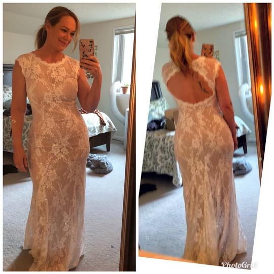 BHLDN White Lace Ryland Sexy Wedding Dress Size 8 (M) Image 1