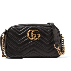 a3a780b862f Added to Shopping Bag. Gucci Cross Body Bag. Gucci Marmont Gg Camera Small  Black Leather ...