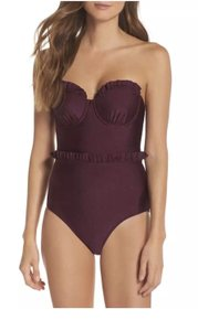 Ted Baker 36 C/D London Frilda Ruffle Cupped Convertible Swimsuit One-piece