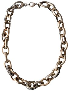 Express Pave Embellished Cable Link Necklace