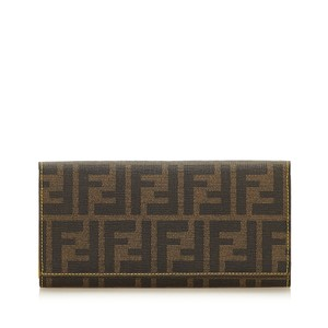 Fendi Zucca Canvas Long Wallet