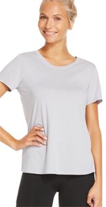 Fabletics Fabletics hypnos Jersey T gray short sleeve mesh panel cut out top