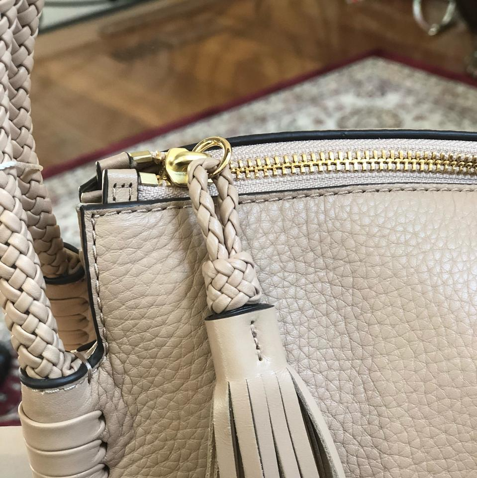 0e54f9fb3 Tory Burch Braided Taylor Holiday Gift Leather Satchel in Devon Sand Image  9. 12345678910
