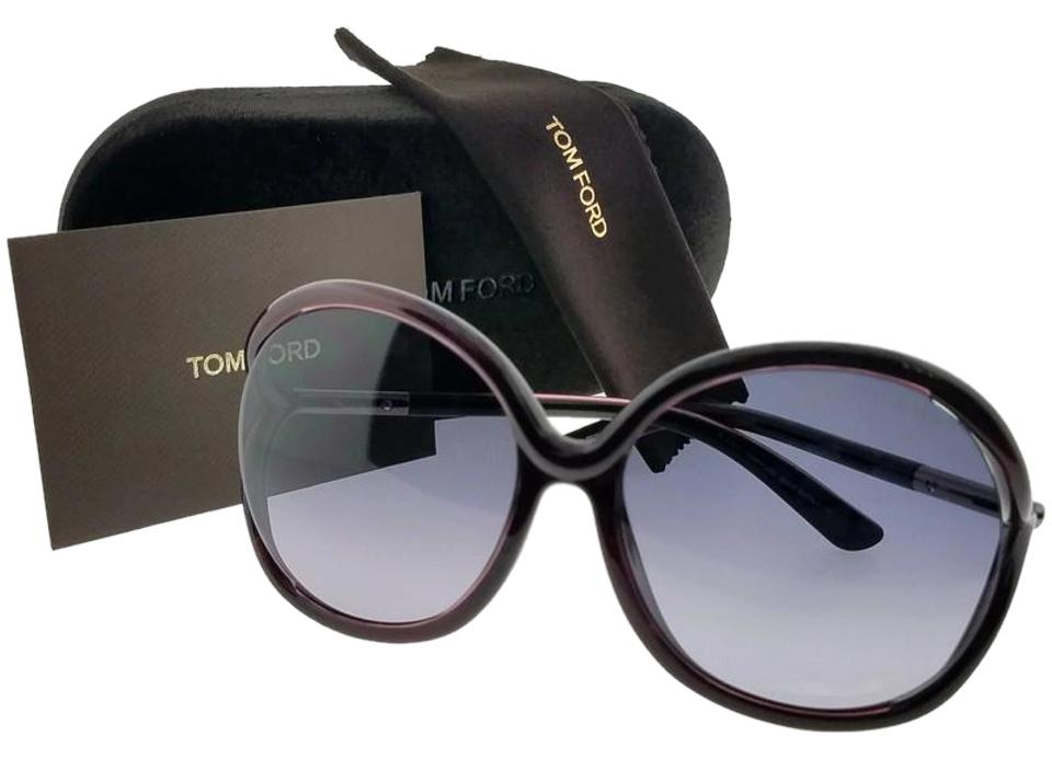 1041dce7278 Tom Ford Ft0252-rhi-05b-59 Round Women s Purple Frame Grey Lens Sunglasses