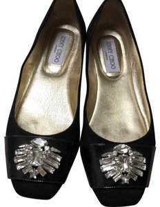 Jimmy Choo black suede Flats