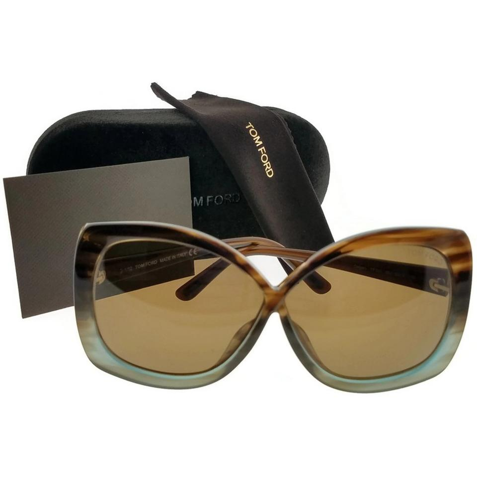 d10af1c809f Tom Ford FT0227-86J-63 Galgary Women s Blue Frame Green Lens Genuine  Sunglasses Image ...