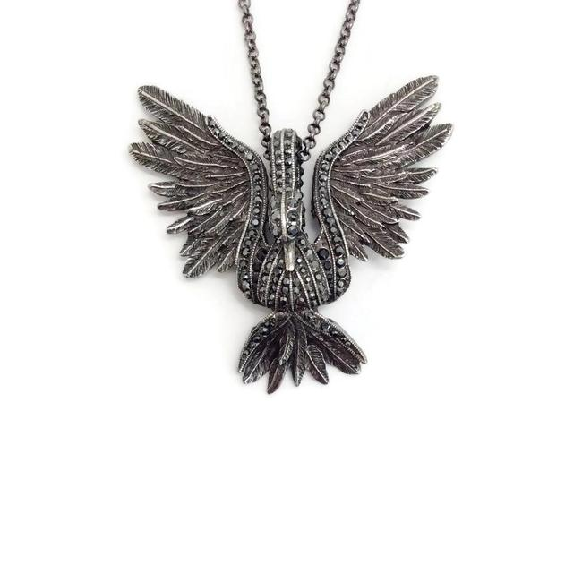 Item - Silver Aged Swan Necklace