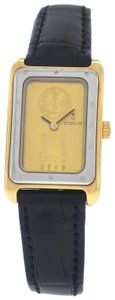 Corum New Authentic Ladies Corum Ingot 24.300.21 24K Yellow Gold Steel