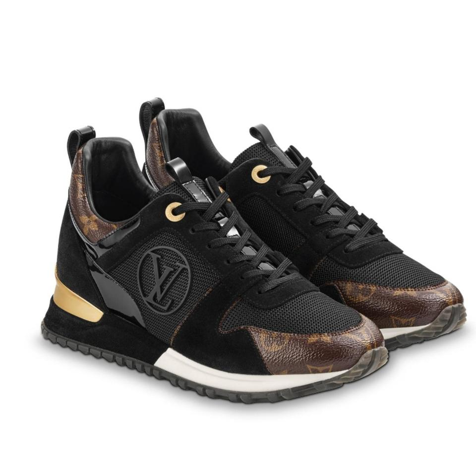 ccd8ebecaac0 Louis Vuitton Black and Gold Run Away Sneaker Sneakers Size EU 37 ...