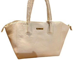 Joy & IMAN Leather Tote in White