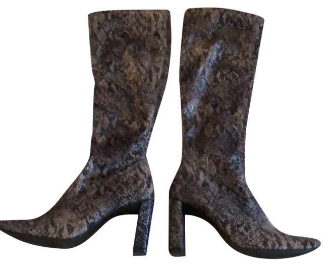 Item - Glamour Faux Snakeskin Boots/Booties Size US 8 Regular (M, B)