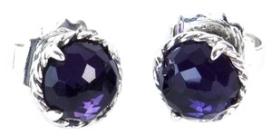 David Yurman Chatelaine Earrings with Black Orchid 10mm $395 NWOT