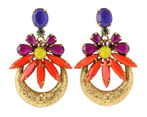 Elizabeth Cole Elizabeth Cole Gold-tone Stone Earrings