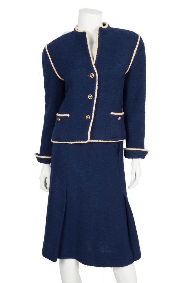 32fdb00a1352b Chanel Blue Navy 36 Skirt Suit Size 8 (M) - Tradesy