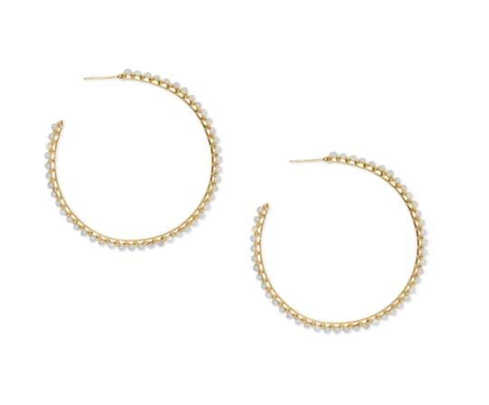 Preload https://img-static.tradesy.com/item/24207588/kendra-scott-gold-birdie-hoop-earrings-0-1-540-540.jpg