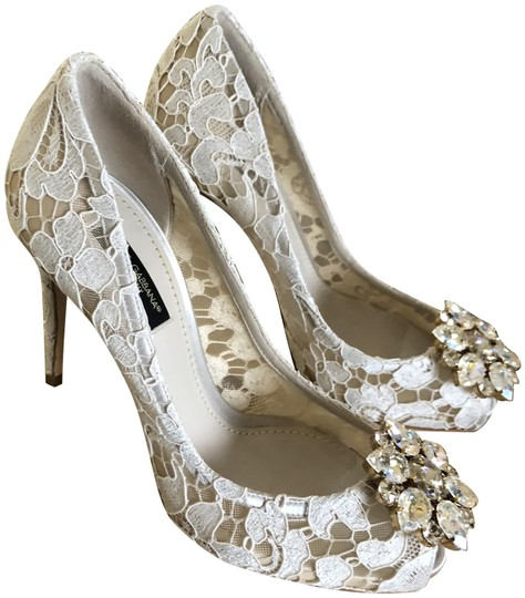 Preload https://img-static.tradesy.com/item/24207644/dolce-and-gabbana-ivory-jeweled-lace-pumps-size-eu-36-approx-us-6-regular-m-b-0-1-540-540.jpg