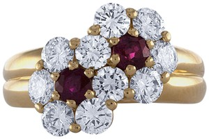 Mauboussin Mauboussin 18K Yellow Gold Ruby & Diamond Ring Size: 5.75