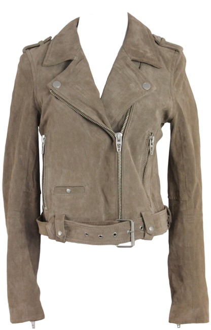 Item - Brown Suede Moto Jacket Size 4 (S)