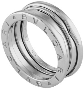 BVLGARI Bvlgari 18K White Gold B.Zero1 Three Band Ring Size: 5.75
