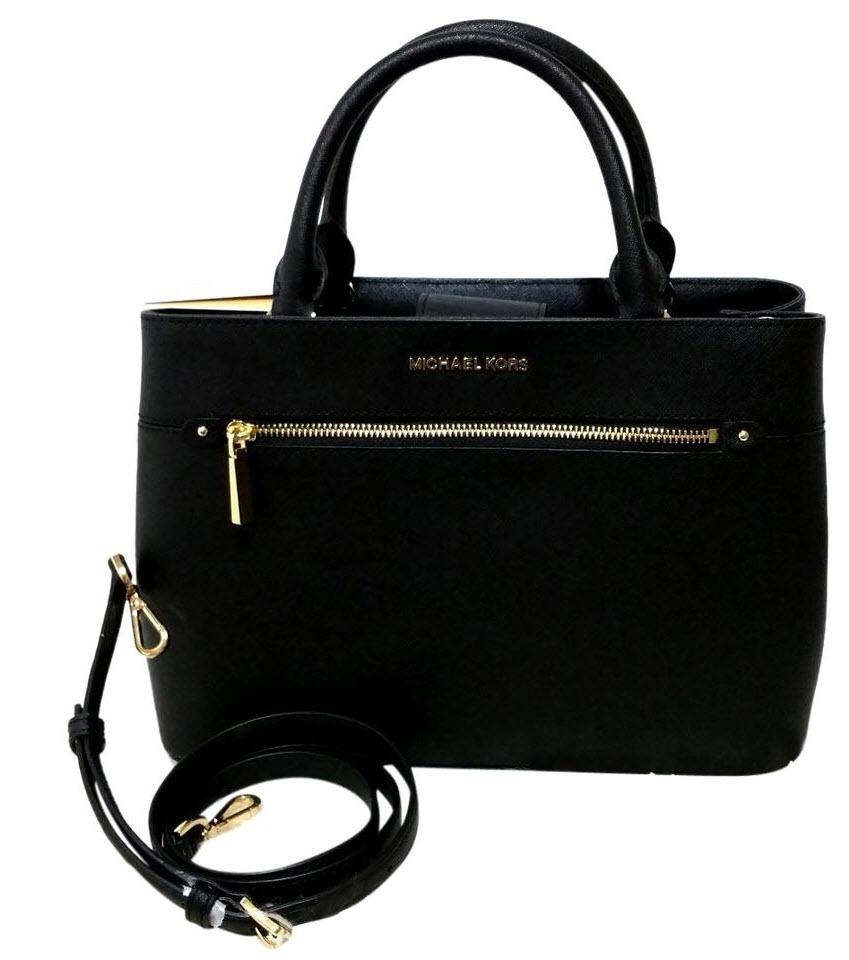 03ac3e7f9339 Michael Kors Set Of 2 Items Handbag And Wallet Hailee Trifold Wallet Satchel  in Black Image ...